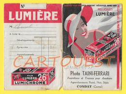 """15190  CONDAT POCHETTE PHOTOS 1937 """" PELLICULES LUMIÈRE """"  Photo TAINI - FERRARI  FORMAT 11x 16 - Matériel & Accessoires"""