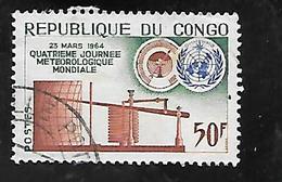 TIMBRE OBLITERE DU  CONGO BRAZZA DE 1964 N° MICHEL 42 - Congo - Brazzaville