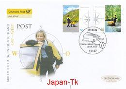 GERMANY Mi. Nr. 2481-2482 Briefzustellung In Deutschland  - FDC - BRD