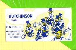 BUVARD & Blotter Paper: Pneus HUTCHINSON  Velo Moto  Signé Mich - Moto & Vélo