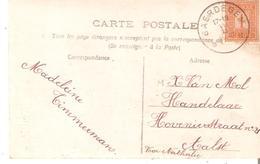 C.P.TP. 108 Dépôt-relais De BAERDEGEM Du 18/11/1913 V/Alost. - Postmarks With Stars