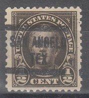 USA Precancel Vorausentwertung Preo, Locals Texas, San Angelo 551-577 - Vereinigte Staaten