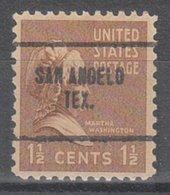 USA Precancel Vorausentwertung Preo, Locals Texas, San Angelo 704 - Vorausentwertungen