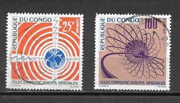 TIMBRE OBLITERE DU  CONGO BRAZZA DE 1963 N° MICHEL 30/31 - Congo - Brazzaville