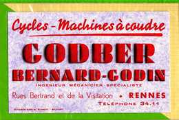 BUVARD & Blotting Paper : Cycles Machines A Coudre GODBER BERNARD GODIN  Rennes - Moto & Vélo