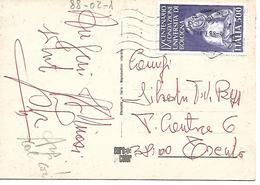 88-02.1 - 500 L UNIVERSITà DI BOLOGNA 1987 ISOLATO SU CARTOLINA - 14.07.88 - 6. 1946-.. Repubblica