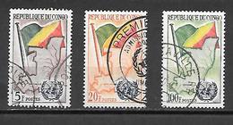 TIMBRE OBLITERE DU  CONGO BRAZZA DE 1961 N° MICHEL 6/8 - Congo - Brazzaville