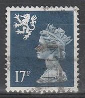 Scotland Decimal Defins 1990 Queen Elizabeth II - New Values & Colors 17 P Blackish Blue SW 53 O Used - Regional Issues