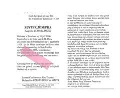 Z 251. Zuster Josepha (Augusta CORNELISSEN) - °TURNHOUT 1906 - Orde H.CLARA -+ST-TRUIDEN 1996 - Images Religieuses