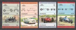 St Vincent 1985 Mi 820-827 MNH CARS - Cars