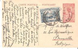 EP.PAR AVION  N° 67 Vue 42 + TP. 171 LEOPOLDVILLE 23/1/1937 V/BRUXELLES - Stamped Stationery