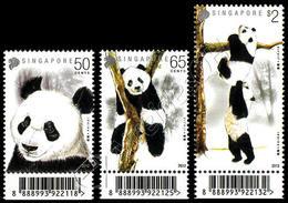 Singapore 2012: Panda Con Codice A Barre / Pandas With Barcode ** - Beren