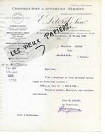 69 - Rhône - VILLEURBANNE - Facture LETORD - Construction D'appareils Aériens - 1919 - REF 104C - France