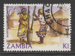 Zambia 1981 Traditional Living K1 Multicoloured SW 262 O Used - Zambia (1965-...)