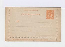 Carte Lettre 15 C. Mouchon Orange Avec Date. N°218. (609) - Cartes-lettres