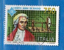 Italia ° - 1991 -  Centenario Della Radio. Luigi Galvani. Unif.1994   Vedi Decrizione - 6. 1946-.. Republik