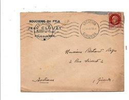PETAIN SUR LETTRE A EN TETE DE PYLA SUR MER 1944 - Marcophilie (Lettres)