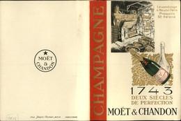 CHAMPAGNE - Menu Publicitaire - MOËT & CHANDON - Hautvillers - Hotel Jol à Montfort - Publicités