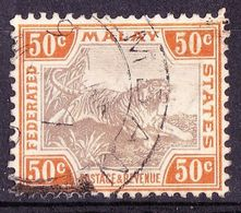 MALAYA 1906 50 Cents Grey-Brown & Orange-Brown SG47c Used - Malayan Postal Union
