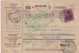 ALLEMAGNE 1914 COLIS POSTAL DE BERLIN - Deutschland