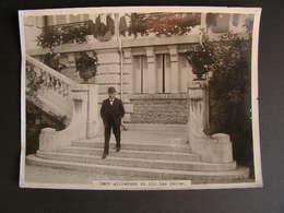 Photo Originale Henri Manuel  President De La Republique Alexandre Millerand Conference Aix Les Bains Hotel Mirabeau 11 - Célébrités