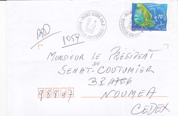Nouvelle Calédonie, Lettre De MONT-DORE  ANNEXE 2, 2001 ( NC26) - Neukaledonien