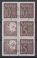 ZWEDEN - Michel - 1961 - Nr 519D/520D-E/478D-E (H-Blatt25) - Gest/Obl/Us - 1951-80