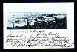 """1903 - Karte """"Lourenco Marques"""" Gebraucht Mit 10 Pf. DR Und Seepoststempel Nach Flensburg - Mozambique"""