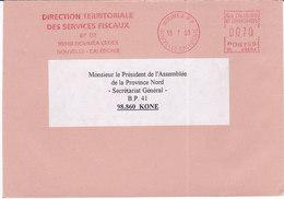 Nouvelle Calédonie, Lettre De NOUMEA RP, 2001,DTSF ( NC 29) - Neukaledonien