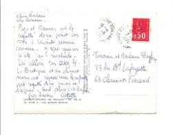 OBLITERATION MANUELLE SUR CPM DE LAVOUTE-CHILHAC HAUTE LOIRE 1974 - Marcophilie (Lettres)