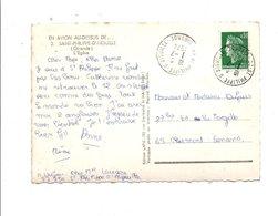 OBLITERATION MANUELLE SUR CPM DE SAINT PHILIPPE D'AIGUILLE 1974 - Marcophilie (Lettres)