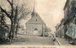 CPA - BARLIEU (18) - Thème : Arbre -  Aspect Du Vieux Chêne Sur La Place De L'Eglise En 1906 - Sonstige Gemeinden