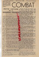 WW II- GUERRE 1939-1945- JOURNAL COMBAT 25 DECEMBRE 1945-RESISTANCE- VIVHY MENT- ACTION FRANCAISE- JOURNAL ORIGINAL - Zeitungen & Zeitschriften
