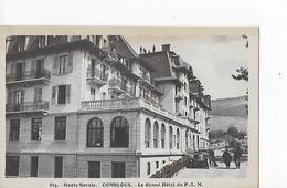 2 Cpa Combloux : Le Grand Hôtel Du P.L.M. : Terrasse, Façade Latérale, Vieille Auto, Mont Blanc, Animation - Combloux