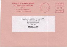 Nouvelle Calédonie, Lettre De NOUMEA RP, 2001,DTSF ( NC 37) - Neukaledonien