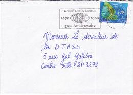 Nouvelle Calédonie, Lettre De NOUMEA -MAGENTA, 2001,KIWANIS CLUB ( NC 38) - Briefe U. Dokumente