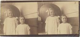 Couple D'enfants -   Photo Originale Stéréoscopique - Stereoscopio