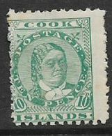 Cook Islands, 1896,10d, Green,  MH * - Cookeilanden