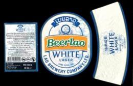 Laos - #10 - Set Complet étiquette  WHITE LAGER Biére Lao. Birra-Cerveza-Beer - Bière