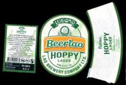 Laos - #09 - Set Complet étiquette  HOPPY LAGER Biére Lao. Birra-Cerveza-beer - Bière