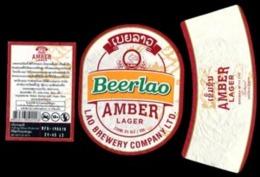 Laos - #11 - Set Complet étiquette  AMBER LAGER Biére Lao. Birra -Cerveza-beer - Bière