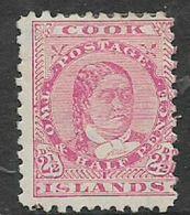 Cook Islands, 1896,2 1/2d, Pale Rose  MH * - Cookeilanden
