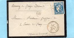 N° 46b (type Iii Report 2) St JEAN De ROYANS (25)L.S.C. Du 15/3/71 Pour BOURG De PEAGE. - Storia Postale