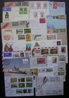 Afrique, Lot De 23 Lettres Et Cartes De Différents Pays, Voir Descriptif Et Photos De Détail ! - Timbres