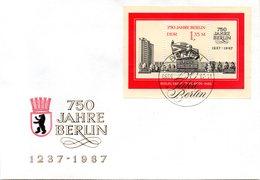 "DDR Schmuck-FDC Mi Block 89 ""750 Jahre Berlin (III)"", ESSt BERLIN 6.9.1987 - DDR"