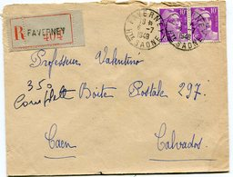 HAUTE SAONE De FAVERNEYEnv. Recom. De 1948 Avec Dateur A 6 - Marcophilie (Lettres)