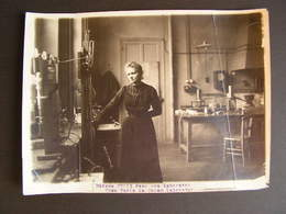 Photo Originale Henri Manuel Marie Curie Dans Son Laboratoire Prix Nobel Science Physique 46 - Célébrités