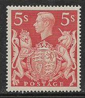 Great Britain, George VI, 1939, 5/=, MNH** - 1902-1951 (Re)