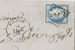 Origine GUIBRAY Clvados, Convoyeur De Station FALAISE + C N P. LAC Entête HATREL Fabrique De Bonneterie. - Marcophilie (Lettres)