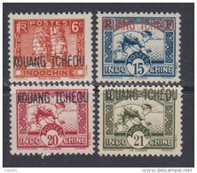 Kouang-Tchéou N° 107 + 109 / 11 XX  Les 4 Valeurs Sans Charnière, TB - Nuevos